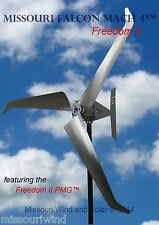 Missouri Falcon Mach 4 Wind Turbine 48/96 Volt 3 Blade  Freedom ll Bare Steel