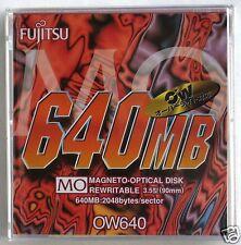"""DISCO MAGNETO OTTICO, CARTUCCIA 640 MB, 2048 B/SEC, 3,5"""", FUJITSU, RISCRIVIBILE"""