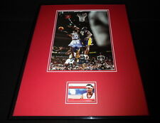 Allen Iverson 16x20 Framed Game Used Jersey & Photo Display 76ers C