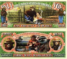 Smokey the Bear - Only You Can Prevent Fores 00006000 t Fires Novelty Money