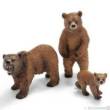 Schleich 14685 14686 14687 - Grizzly Bear Family Set of 3 - Wild Life