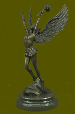 Handcrafted bronze sculpture SALE Mythical Religous Angel Moreau Signed Hot Cast