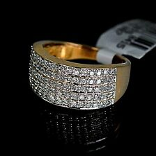 Ladies Yellow 10K Gold Genuine Real Diamond Ring Engagement Wedding Band