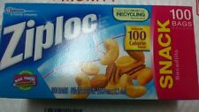 ZIPLOC Reclosable Bag, Snack, Clear, Plastic, PK 100 BOX  FREE SHIP
