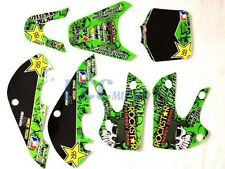 ROCKSTAR METAL MULISHA GRAPHICS DECAL KIT KAWASAKI KLX110 KLX 110 KX 65 M DE66