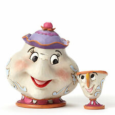 Disney Traditions Jim Shore Beauty and the Beast 25th MRS POTTS & CHIP Figurine