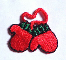 CHRISTMAS MITTENS IRON ON PATCH APPLIQUE