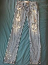 Abercrombie and Fitch girls jeans 25 waist leg 32 skinny fit
