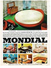PUBLICITE ADVERSTISING  1969   MONDIAL  meuble lit rond MANHATTAN         251113