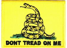 "(A22) Gadsden Flag - Don't Tread On Me  3"" x 2"" iron on patch (1327) Biker"