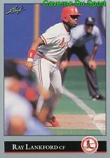 195   RAY LANKFORD    ST. LOUIS CARDINALS  BASEBALL CARD LEAF 1992