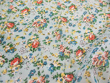 "Sky ""Tea Party"" Summer Floral Printed 100% Cotton LAWN/VOILE Fabric"