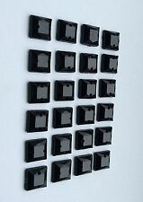 SALE! 50 pcs x Sew On 8 mm Resin Rhinestones Black Color Square Shape