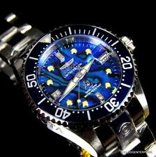 Womens Invicta Grand Diver Automatic Diamond Silver Steel Blue Abalone Watch New