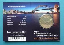2007 Sydney Harbour Bridge One Dollar Uncirculated Coin Mintmark M