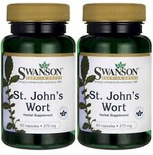 2-PACK Swanson St. John's Wort 375 mg 60 X 2 or 120 Caps / FAST SHIPPING