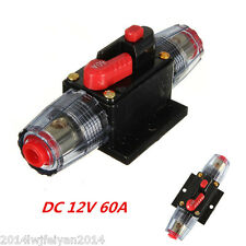 DC 12V 60A In-Line Circuit Breaker Stereo/Audio/Car/RV 60A/60AMP Fuse Protection