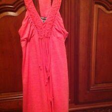 Sara Sara Size 14 salmon Fringe Dress NWT