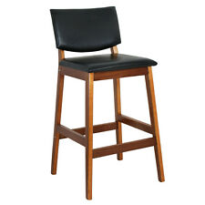 New Heavy Duty Bar Stool Seat Modern Height  Kitchen Dinning Chair Walnut Color