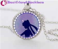 NEW Silver Anime Sailor Moon Jewelry Glass Dome Pendant Necklace#NS12