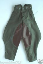 1/6 Action Figure Accessories-Olive/Brown Horse Riding Breeches/Pants