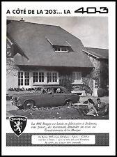 Publicité Automobile Peugeot 403 car photo vintage ad  1955 -9I