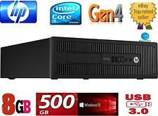 HP DESKTOP i5 600 G1-4TH GEN 8GB 500 HD-3.20GHZ.4570.WIN 10 PRO,64 BIT-USB3,DVD+