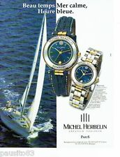 PUBLICITE ADVERTISING  116  1997   Michel Herbelin   montre Newport