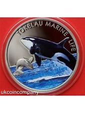 2012 Tokelau Silver Proof Five Dollar Coin With Certificate Marine Life