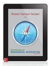 NEW - Introduction to Managerial Accounting