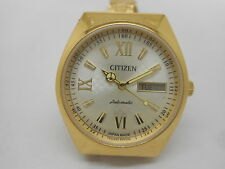 citizen automatic men's gold plated vintage japan made wrist watch run-h6
