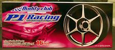 Felgen Buddy Club P-1 Racing 16 Zoll inkl. Reifen, 1:24, Aoshima 040232