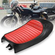 Universal Vintage Hump Saddle Motorcycle Custom Cafe Racer Seat Black For Honda