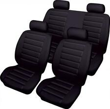 BLACK CAR SEAT COVER SET LEATHER LOOK  FRONT & REAR for BMW 3 SERIES C E46 00-06