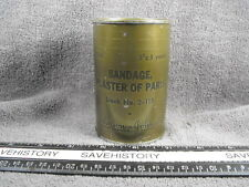 """US Army Medical Department Sealed Can BANDAGE PLASTER OF PARIS 3""""x5 yards,1945"""