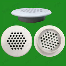 10x Roof Soffit Round Air Vents Eaves 48mm Grille 35mm Hole Push Fit Ventilation
