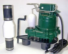 Zoeller M-53 1/3 Sump Pump w Silent Check Valve & Stand M53