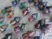 lot of 25 FIMO MUSHROOM PENDANTS Shroom Clay Charms Hippie Wholesale New Bead