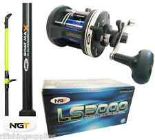 BRAND NEW 25LB 6FT 2 PIECE BOAT ROD AND LS300 MULTIPLIER REEL SEA FISHING