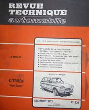 Revue technique CITROEN AMI SUPER BREAK SERVICE BERLINE RTA 330 1973 + 504 TI