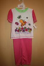 Love Bugs & Flower Love by Okie Dokie 3pc Pajama Set NWTS Size 4T