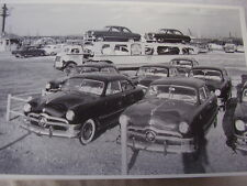 1950 FORD  NEW CARS ON HAULER & STORAGE   12 X 18  PHOTO  PICTURE