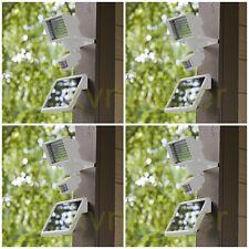 4-Pack White 60 SMD LED Solar Powered Motion Sensor Security Flood Light Sun New