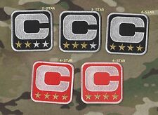 2016 Season WHITE BORDER RED BACKGROUND 4-Four-STAR Gold Captain's 4-⭐-C-Patch