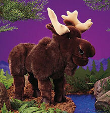 """MOOSE PUPPET # 2205 ~ 20"""" Long ~ Free Shipping in USA ~ Folkmanis Puppets"""