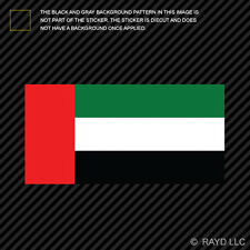 "4"" Emirati Flag Sticker Decal Self Adhesive Vinyl United Arab Emirates ARE AE"