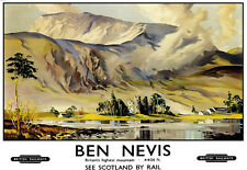 Ben Nevis British Railways Train Rail Travel  Poster Print