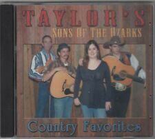Country Favorites ~ Taylor's Sons of the Ozarks ~ CD ~ Used VG ~ Bluegrass Album