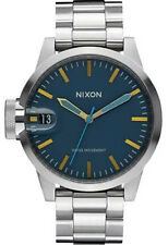 Nixon Chronicle 44 Watch (Navy / Brass)