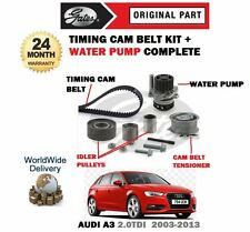 FOR AUDI A3 2.0 TDI 2003-2013 TIMING CAM BELT TENSIONER KIT + WATER PUMP SET